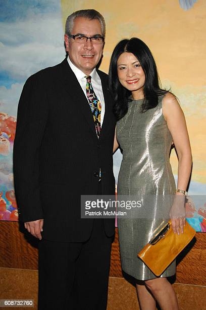 Jorge Gonzalez and Vivienne Tam attend MANDARIN ORIENTAL HOTEL GROUP Party for the SOTHEBY'S Contemporary Asian Art Exhibition at The Mandarin...