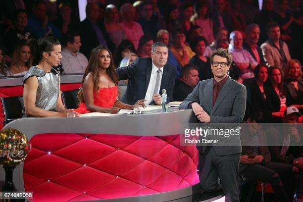 Jorge Gonzalez Motsi Mabuse Joachim Llambi and Daniel Hartwich during the 6th show of the tenth season of the television competition 'Let's Dance' on...