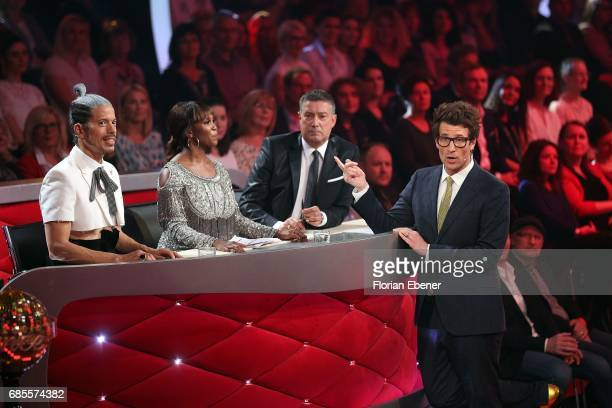 Jorge Gonzalez Motsi Mabuse Joachim Llambi and Daniel Hartwich during the 9th show of the tenth season of the television competition 'Let's Dance' on...