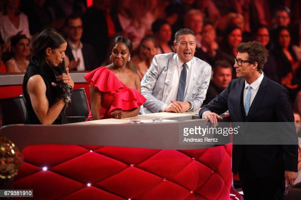 Jorge Gonzalez Motsi Mabuse Joachim Llambi and Daniel Hartwich on stage during the 7th show of the tenth season of the television competition 'Let's...