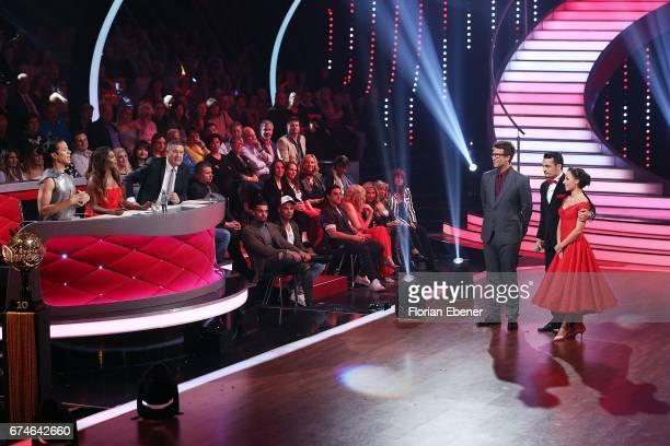 Jorge Gonzalez Motsi Mabuse Joachim Llambi Daniel Hartwich Giovanni Zarrella and Marta Arndt during the 6th show of the tenth season of the...