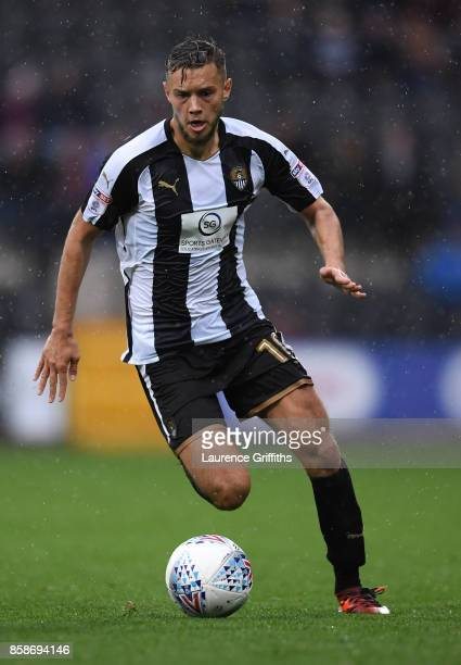 Jorge Grant of Notts County in action during the Sky Bet League Two match between Notts County and Forest Green Rovers at Meadow Lane on October 7...