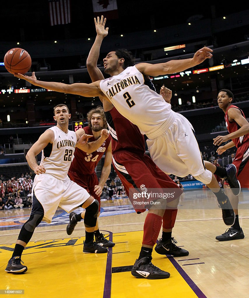 Jorge Gutierrez of the California Golden Bears shoots against the Stanford Cardinal during the quarterfinals of the Pac12 Men's Basketball Tournament...