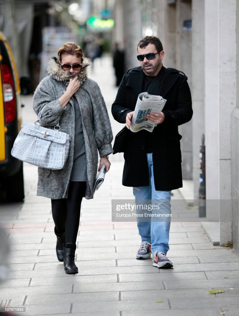 Jorge Javier Vazquez And Mila Ximenez Sighting In Madrid - December 14, 2010