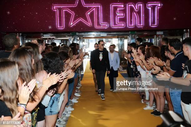 Jorge Javier Vazquez Edurne and Risto Mejide attends the 'Got Talent' photocall at Coliseum theatre on July 12 2017 in Madrid Spain