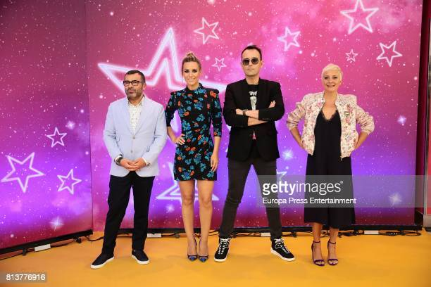 Jorge Javier Vazquez Edurne Risto Mejide and Eva Hache attend the 'Got Talent' photocall at Coliseum theatre on July 12 2017 in Madrid Spain