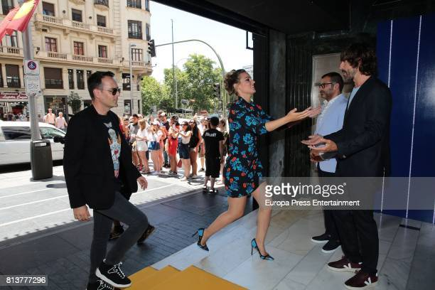 Jorge Javier Vazquez Edurne Santi Millan and Risto Mejide attend the 'Got Talent' photocall at Coliseum theatre on July 12 2017 in Madrid Spain