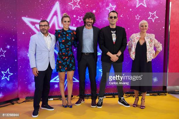 Jorge Javier Vazquez Edurne Santi Millan Risto Mejide and Eva Hache attend 'Got Talent' photocall at the Coliseum Teather on July 12 2017 in Madrid...