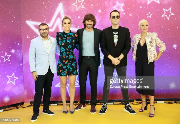 Jorge Javier Vazquez Edurne Santi Millan Risto Mejide and Eva Hache attends the 'Got Talent' photocall at Coliseum theatre on July 12 2017 in Madrid...