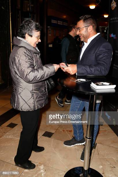 Jorge Javier Vazquez signs tickets for his latest show 'Grandes Exitos' at Rialto theater on December 8 2017 in Madrid Spain