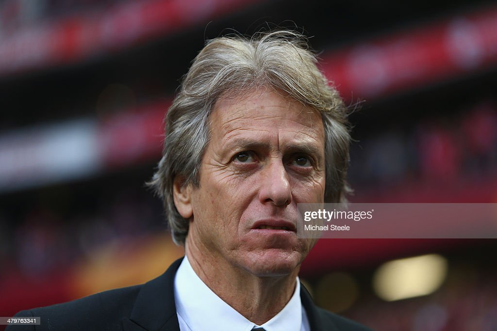 <a gi-track='captionPersonalityLinkClicked' href=/galleries/search?phrase=Jorge+Jesus&family=editorial&specificpeople=686973 ng-click='$event.stopPropagation()'>Jorge Jesus</a> the coach of SL Benfica looks on during the UEFA Europa League Round of 16 2nd leg match between SL Benfica and Tottenham Hotspur at Estadio da Luz on March 20, 2014 in Lisbon, Portugal.