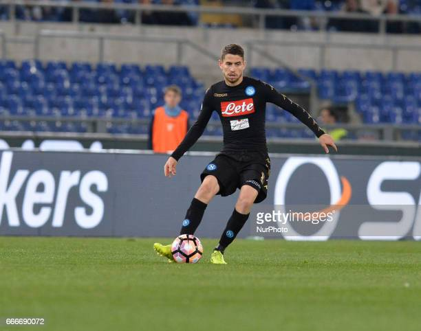 Jorge Jorginho during the Italian Serie A football match between SS Lazio and AC Napoli at the Olympic Stadium in Rome on april 09 2017