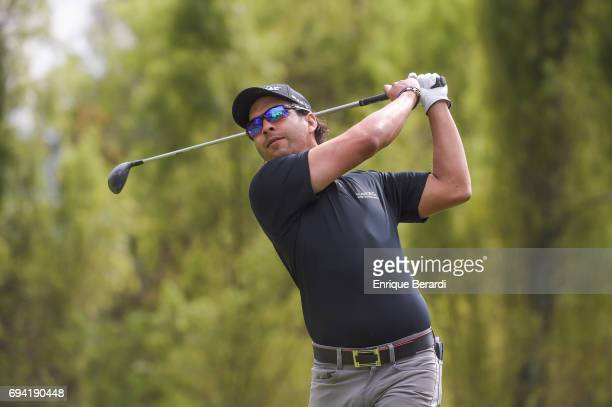 Jorge Jose Toledo of Guatemala tees off on the 18th hole during the first round of the PGA TOUR Latinoamerica Quito Open presentado por Diners Club...