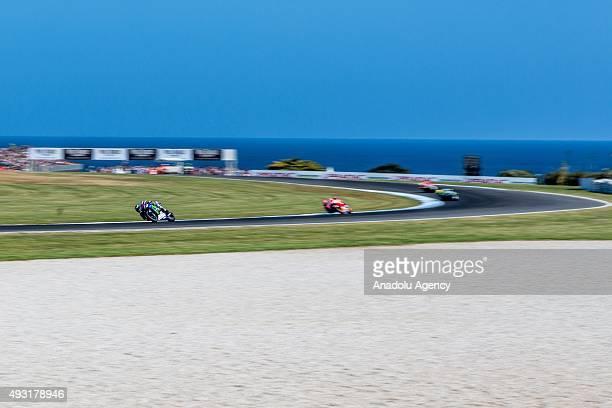 Jorge Lorenz of Movistar Yamaha MotoGP during the 2015 MotoGP race of Australia at the Phillip Island Grand Prix Circuit Phillip Island Australia...