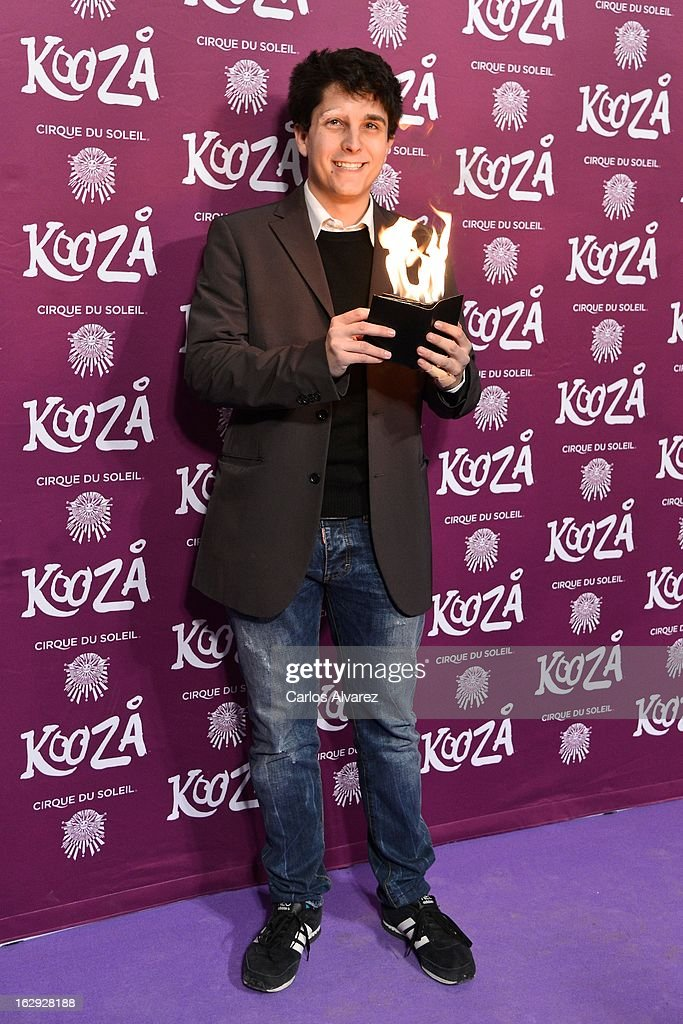 Jorge Luengo attends 'Cirque Du Soleil' Kooza 2013 premiere on March 1, 2013 in Madrid, Spain.
