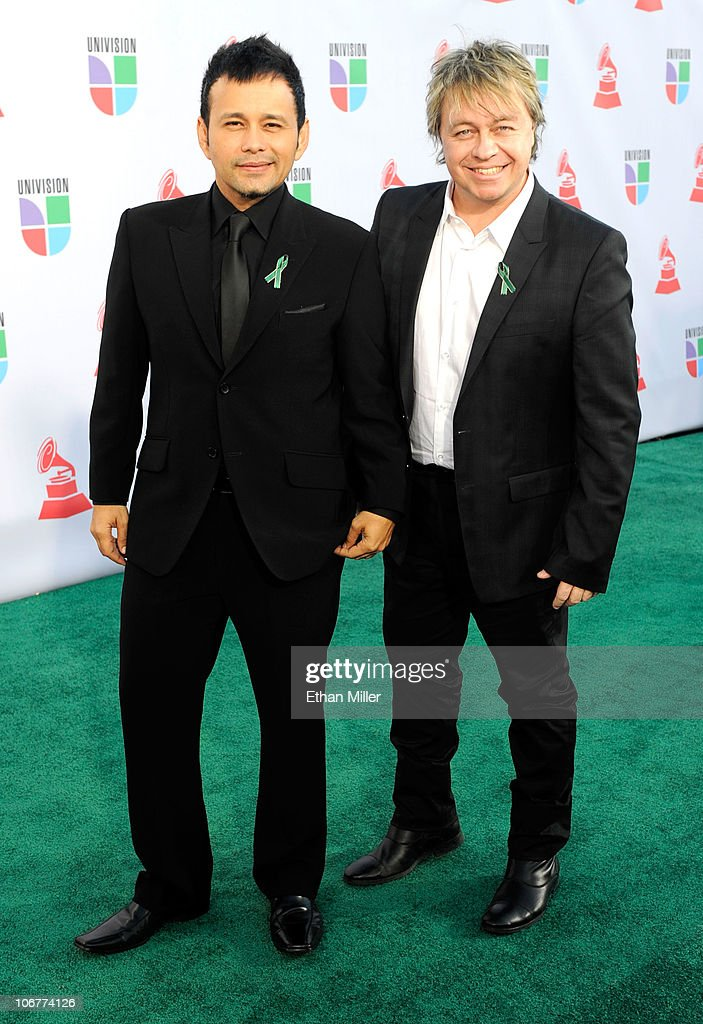 Jorge Luis (L) and Fernando Osorio arrive at the 11th annual Latin GRAMMY Awards at the Mandalay Bay Resort & Casino on November 11, 2010 in Las Vegas, Nevada.