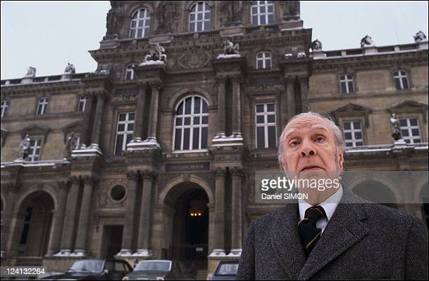 Jorge Luis Borges at the Sorbonne university in Paris France In 1978