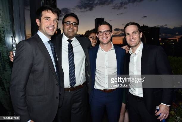 Jorge Luis Karan Vazirani Mark Hoban and Larry O'Neil attend The Junior Board of The TEAK Fellowship Presents A Midsummer Night at PhD Lounge at the...