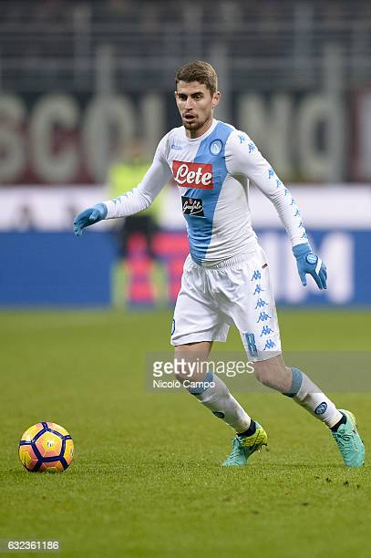 Jorge Luiz Frello Filho of SSC Napoli in action during the Serie A football match between AC Milan and SSC Napoli SSC Napoli wins 21 over AC Milan