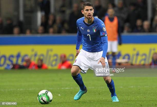 Jorge Luiz Frello Jorginho of Italy in action during the FIFA 2018 World Cup Qualifier PlayOff Second Leg between Italy and Sweden at San Siro...