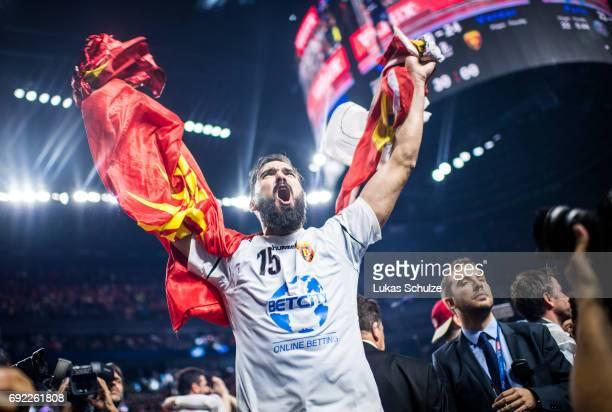 Jorge Maqueda Pena of Vardar reacts after winning the VELUX EHF FINAL4 Final match between Paris SaintGermain Handball and HC Vardar at Lanxess Arena...