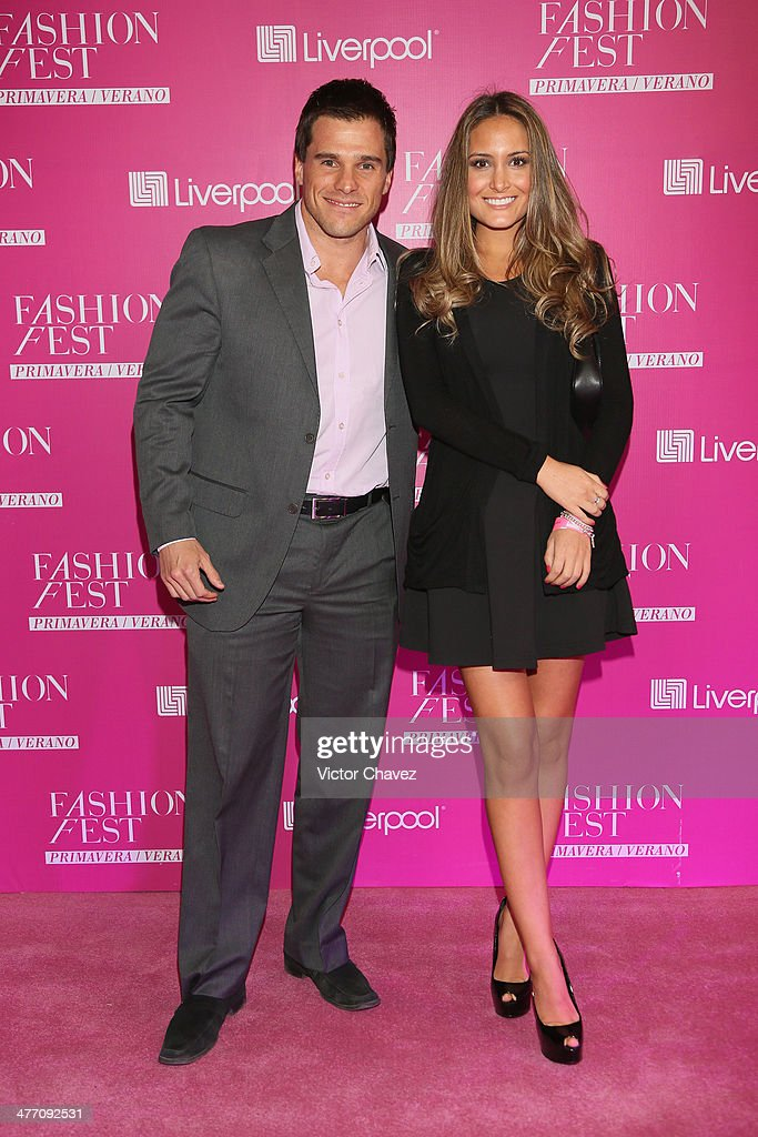 Jorge Marroquin and guest attend the Liverpool Fashion Fest Spring/Summer 2014 at Hipodromo de las Americas on March 6, 2014 in Mexico City, Mexico.