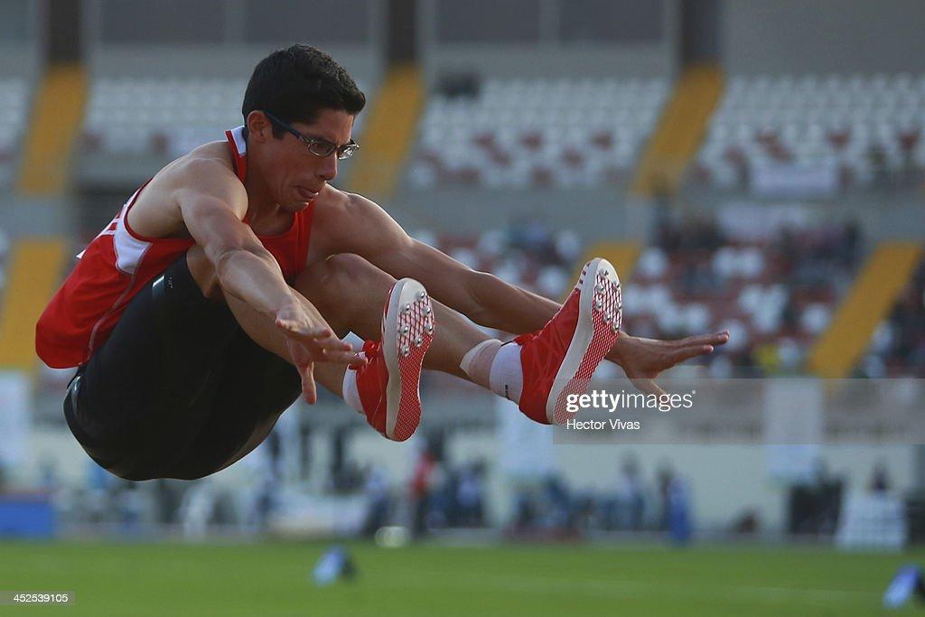 Jorge Mc Farlane of Peru competes in long jump as part of the XVII Bolivarian Games Trujillo 2013 at Chan Chan Stadium on November 29, 2013 in Trujillo, Peru.
