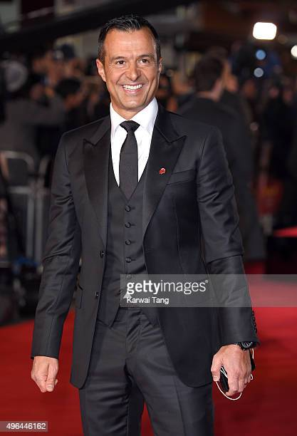 Jorge Mendes attends the World Premiere of 'Ronaldo' at Vue West End on November 9 2015 in London England