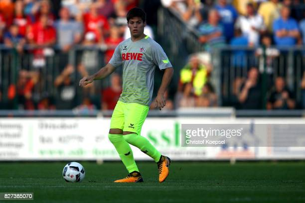 Jorge Mere of Kln runs with the ball during the preseason friendly match between TSV Steinbach and 1 FC Koeln at SibreSportzentrum Haarwasen on...