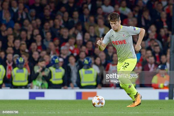 Jorge Mere of Koeln controls the ball during the UEFA Europa League group H match between Arsenal FC and 1 FC Koeln at Emirates Stadium on September...