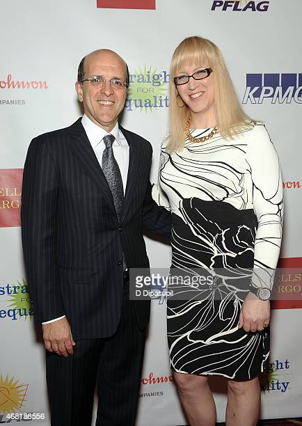 Jorge Mesquita and Allyson Dylan Robinson attend the 7th Annual PFLAG National Straight For Equality Awards Gala at The New York Marriott Marquis on...