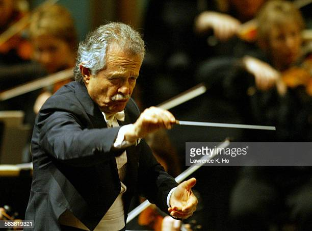 Jorge Mester conducting the Pasadena Symphony performing works by Richard Strauss Darius Milhaud and the world premiere of the revised version of...