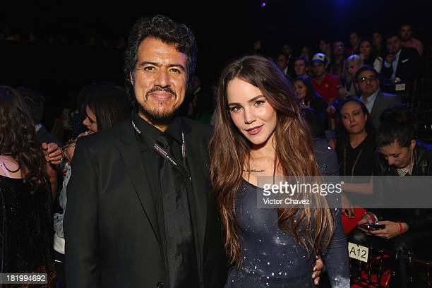 Jorge Mondragon and Camila Sodi attend the second day of MercedesBenz Fashion Week Mexico Spring/Summer 2014 at Campo Marte on September 26 2013 in...