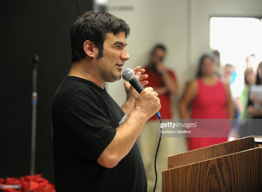 Jorge Morilla attends the Best Buddies welcomes 'Twilight' star Kellan Lutz on December 7, 2012 in Miami, Florida.