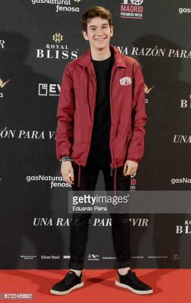 Jorge Motos attends the 'Una razon para vivir' premiere on November 9 2017 in Madrid Spain