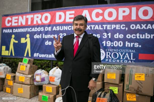 Jorge Ortiz de Pinedo gestures ahead of a series of benefit plays for the victims of the september 19th earthquake in Oaxaca at Royal Pedregal...