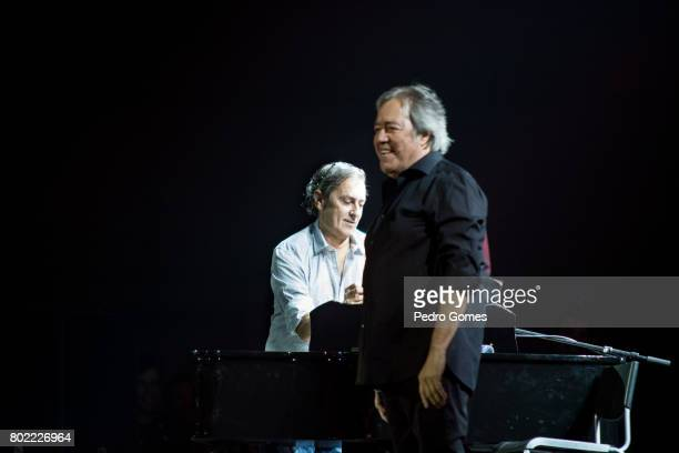 Jorge Palma and Sergio Godinho perform during Juntos por Todos solidarity concert for the victims of the forest fires in the Pedrogao Grande region...