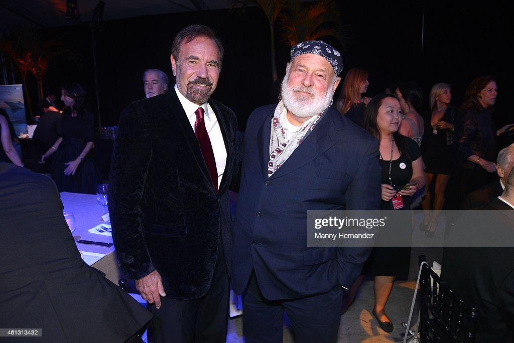 Jorge Perez and Bruce Weber attend 2015 YoungArts Backyard Ball at YoungArts Campus on January 10, 2015 in Miami, Florida.