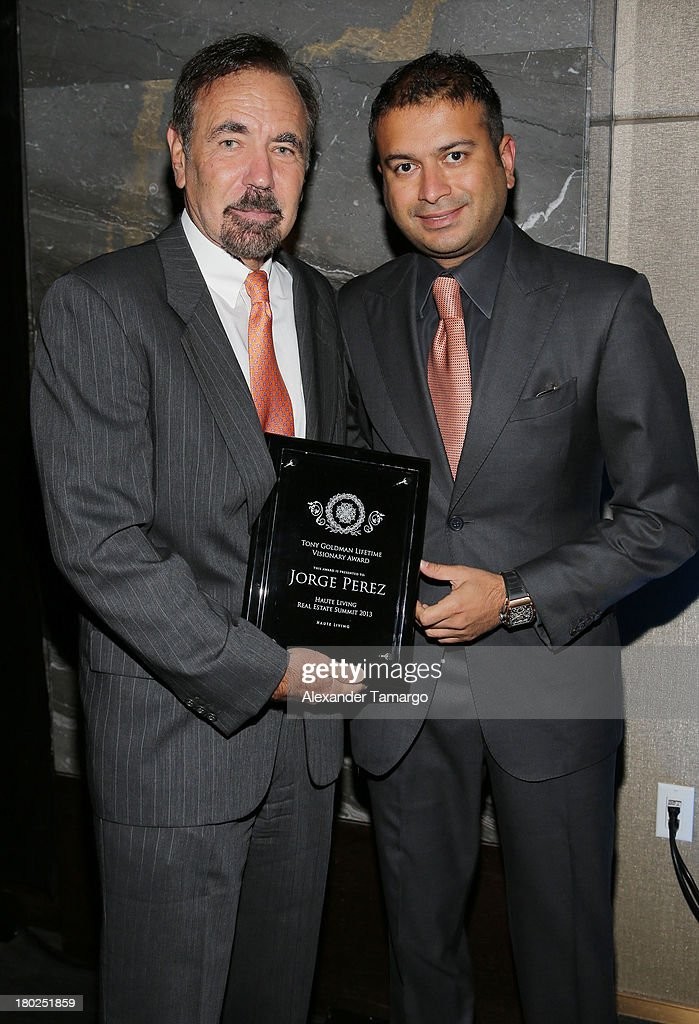 Jorge Perez and <a gi-track='captionPersonalityLinkClicked' href=/galleries/search?phrase=Kamal+Hotchandani&family=editorial&specificpeople=6688119 ng-click='$event.stopPropagation()'>Kamal Hotchandani</a> attend the Haute Magazine Real Estate Summit at the W Hotel South Beach on September 10, 2013 in Miami, Florida.