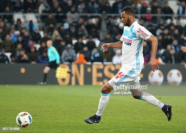 Jorge Pires Da Fonseca Rolando of OM in action during the French Ligue 1 match between Olympique de Marseille and AS Monaco at Stade Velodrome on...