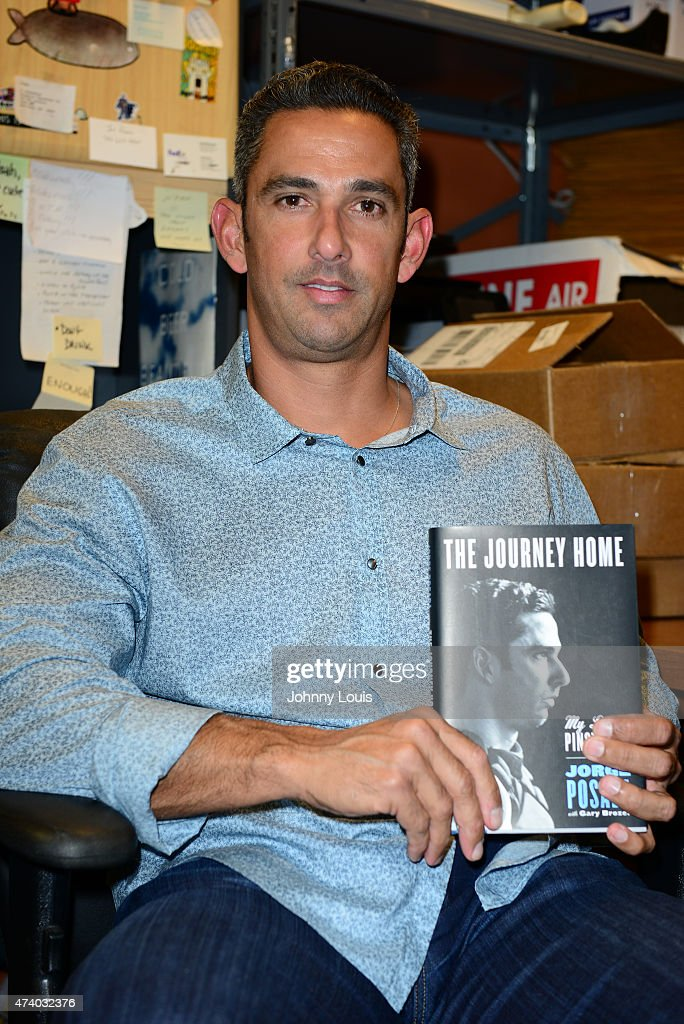 Jorge Posada Book Signing At Books And Books