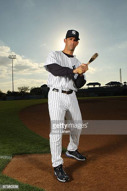 Jorge Posada of the New York Yankees poses for a photo during Spring Training Media Photo Day at George M Steinbrenner Field on February 25 2010 in...