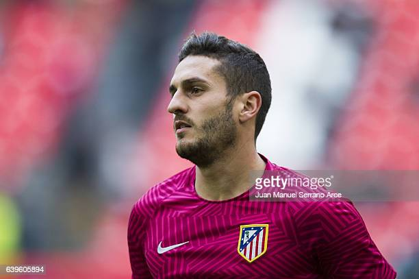 Jorge Resurreccion 'Koke' of Atletico Madrid looks on prior to the start the La Liga match between Athletic Club Bilbao and Atletico Madrid at San...