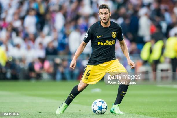 Jorge Resurreccion Merodio Koke of Atletico de Madrid in action during their 201617 UEFA Champions League Semifinals 1st leg match between Real...