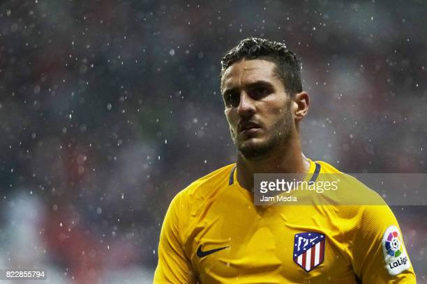 Jorge Resurreccion Merodio of Atletico de Madrid looks on during a friendly match between Toluca and Atletico de Madrid as part of the 100th...