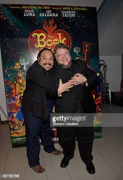Jorge RGutierrez and Guillermo del Toroattends 'THE BOOK OF LIFE' Red Carpet at Regal South Beach 18 on October 13 2014 in Miami Florida