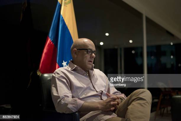 Jorge Rodriguez mayor of the Libertador Municipality in Caracas speaks during an interview in Caracas Venezuela on Tuesday Aug 15 2017 Rodriguez...