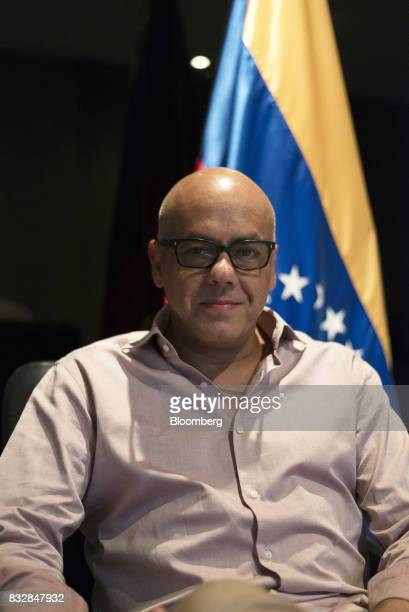 Jorge Rodriguez mayor of the Libertador Municipality in Caracas sits for a photograph following an interview in Caracas Venezuela on Tuesday Aug 15...