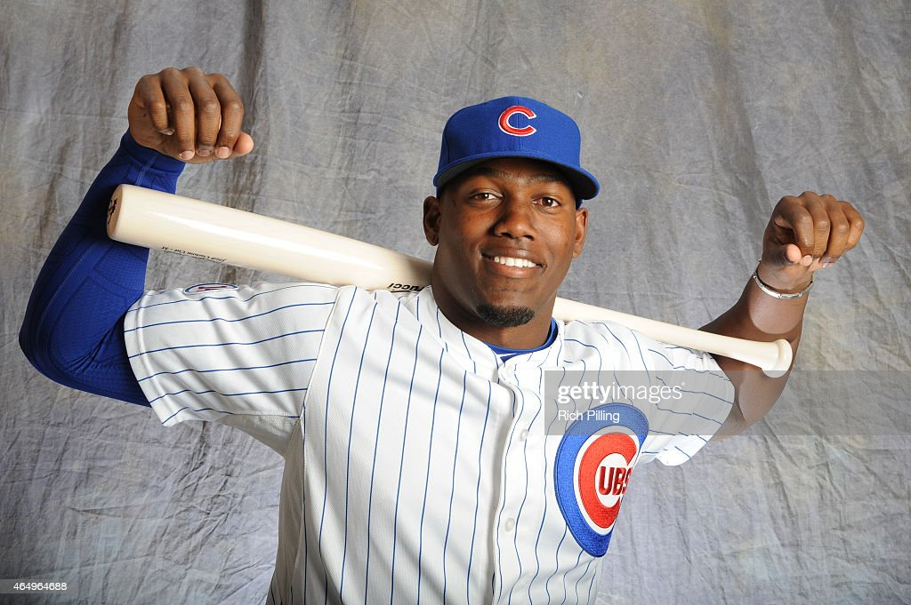 Jorge Soler #68 of the Chicago Cubs poses for a portrait during Photo Day on March 2, 2015 at Sloan Park in Mesa, Arizona.