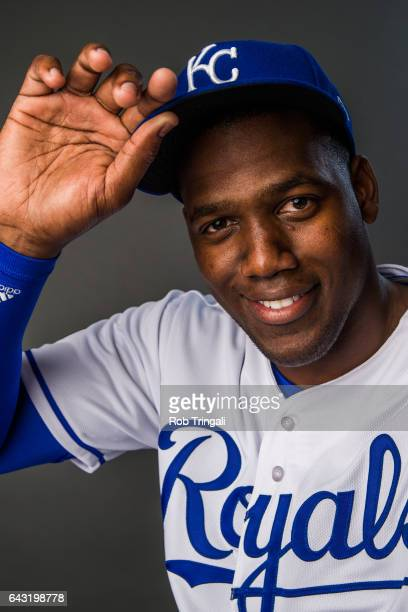 Jorge Soler of the Kansas City Royals poses for a portrait at the Surprise Sports Complex on February 20 2017 in Surprise Arizona